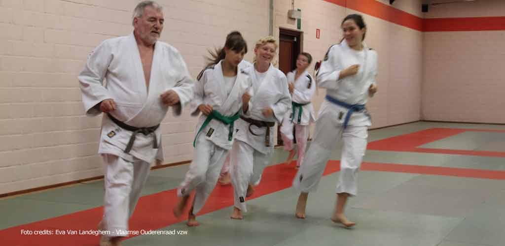 Sporten houdt je jong (Foto credits: Eva Van Landeghem - Vlaamse Ouderenraad vzw)