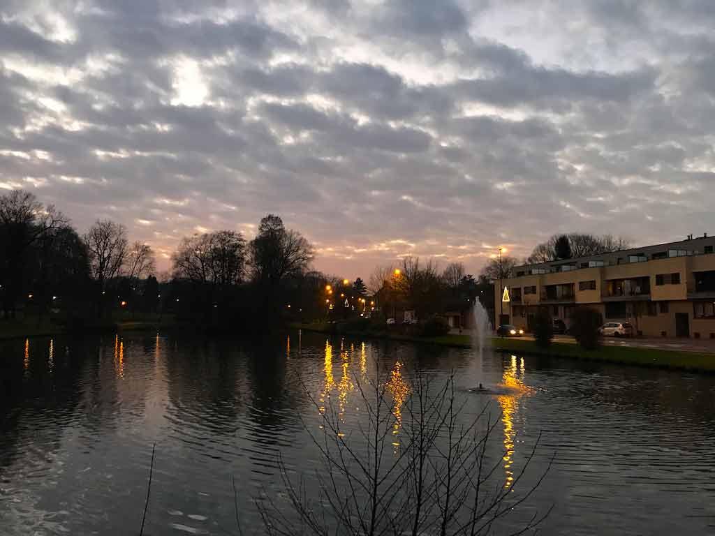 Vijver in het Ruusbroekpark Hoeilaart januari 2018 (foto credits: Eddy Olislaeger)