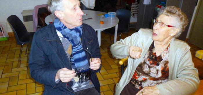 Twee generaties, Rohny Van de Casseye en moeder Marie-Madeleine 2012 (foto: Gilberte Marchand)