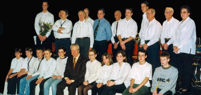Eerste concert van Nero's Muzikanten met Marc Sleen in het midden (foto credits: Eddy Bergiers)